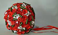 Весільний букет-дублер червоні троянди 30 см Свадебний букет
