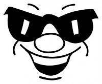 Виниловая наклейка на авто - Смайлик в очках