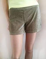 Женские вельветовые шорты HUE, серые с бежевым отливом