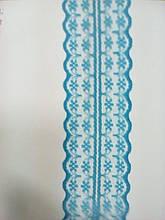 Кружево капрон голубое, ширина 4.5 см (1упаковка-300ярдов)