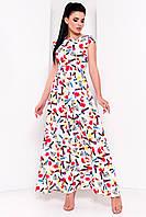 Летнее длинное платье с ярким молодежным принтом, Жадор