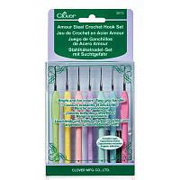 Крючки для вязания стальные Clover Amour, набор