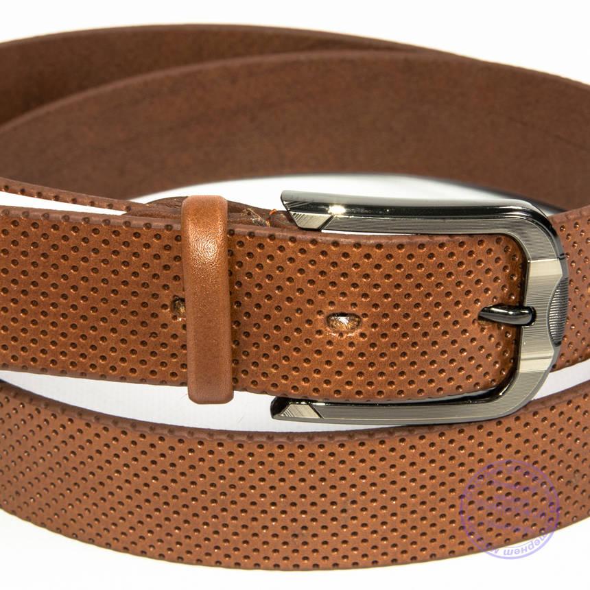 Кожаный мужской коричневый ремень - B-M4-8-5, фото 2