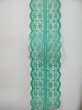 """Кружево нестрейч. """"Цветочек"""" светло-зеленое, ширина 4.5 см(1упаковка-36ярдов)"""