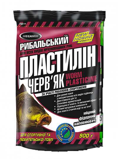 Пластилин Megamix Червяк, 900г