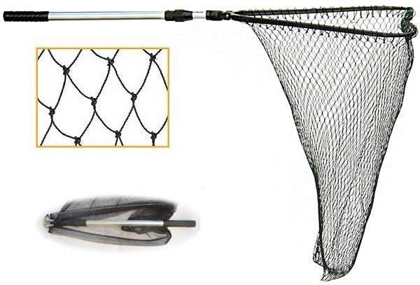 Подсак треугольный складной, крупная сетка, 50см