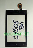 Сенсор (тачскрін)  Sony C1505/C1605 original чорний