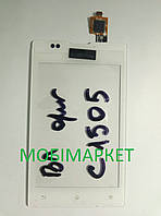 Сенсор (тачскрін) Sony C1505 original білий