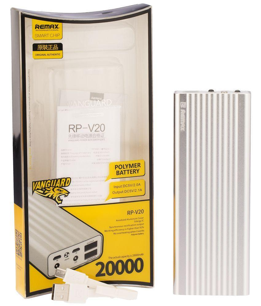 PowerBank Remax Vanguard Power Box 20000mAh silver