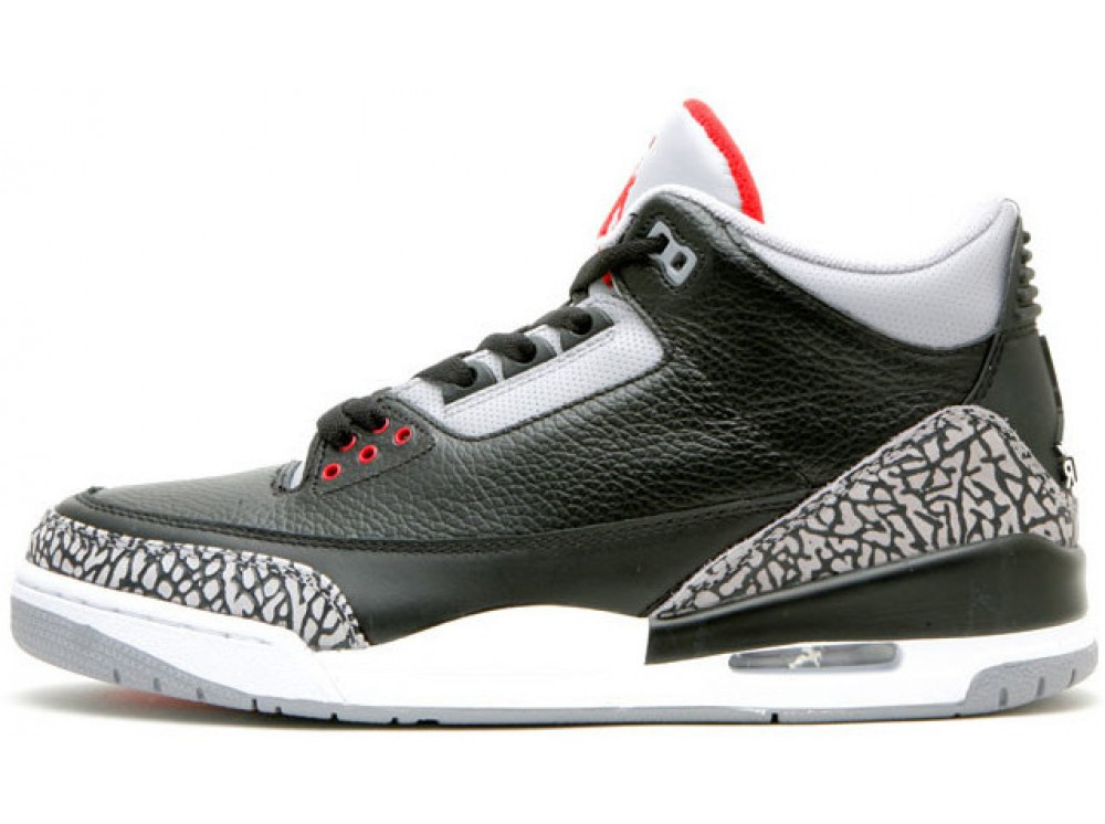 Мужские кроссовки Nike Air Jordan 3 Black Cement 136 064 001, Найк Аир Джордан 3