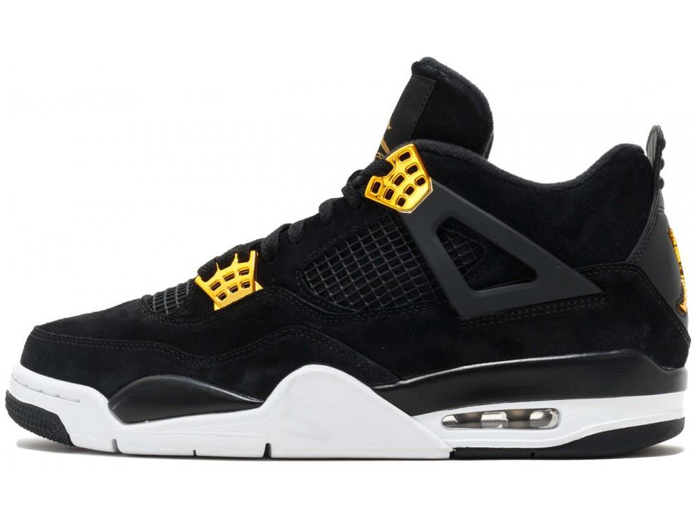 Мужские кроссовки Nike Air Jordan 4 Royalty Black 308497-032, Найк Аир Джордан 4