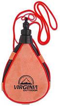 Кожаная фляга капельной формы 0,5 л Cantale,  0500RVO, коричневая