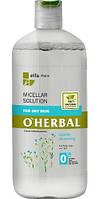 Мицеллярный раствор для сухой  кожи  + экстракт льна O'HERBAL 500 мл
