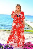 Женская пляжная туника в пол №8059, фото 3