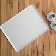 Піднос ПАПЕРОНЕ пластиковий, білий, ажурний край 55 x 42 см. 1/13