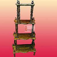 Этажерка 4 полки розовое дерево 120х60х27