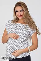 Летняя блуза Vlada для беременных, молочная