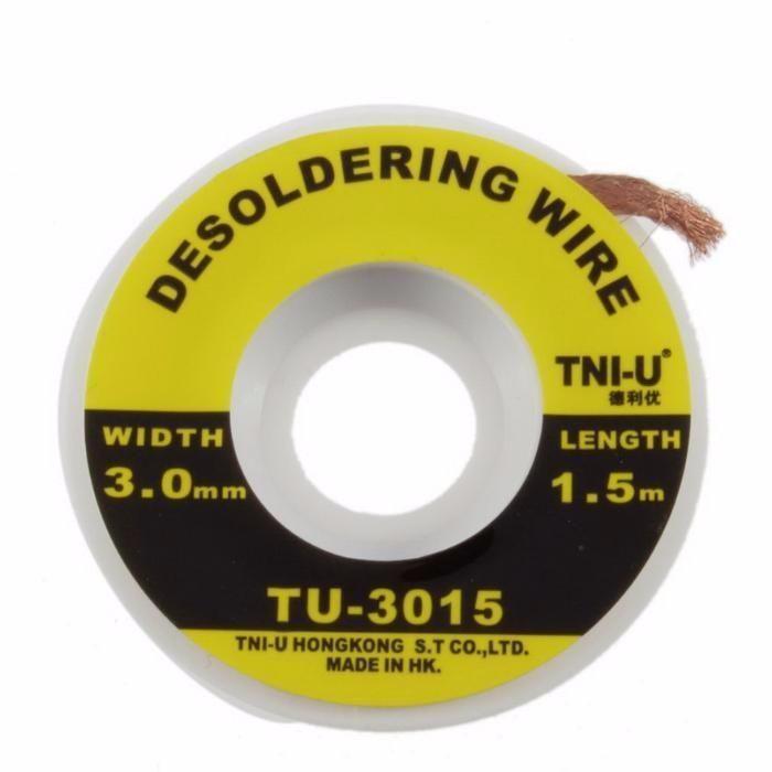 Оплетка для снятия припоя TNI-U, TU-1515,2015,2515,3015 (1.5,2.0,2.5,3.0 mm)