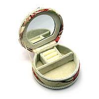 Шкатулка для украшений с зеркальцем 11х12х6 см