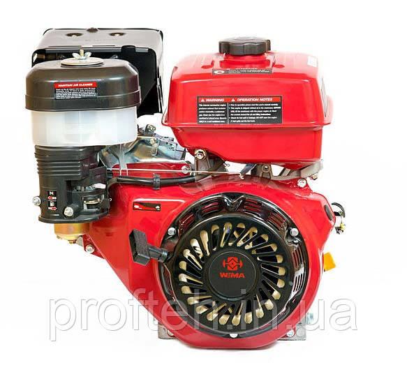 Двигатель бензиновый на мотоблок WEIMA WM177F-T  (9,0 л.с., шлицы Ø25мм, L=36,5мм)