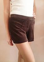 Женские вельветовые шорты HUE, коричневые