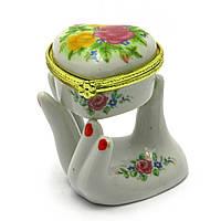 Шкатулка керамическая Рука и сердце 7,5х6,5х5 см