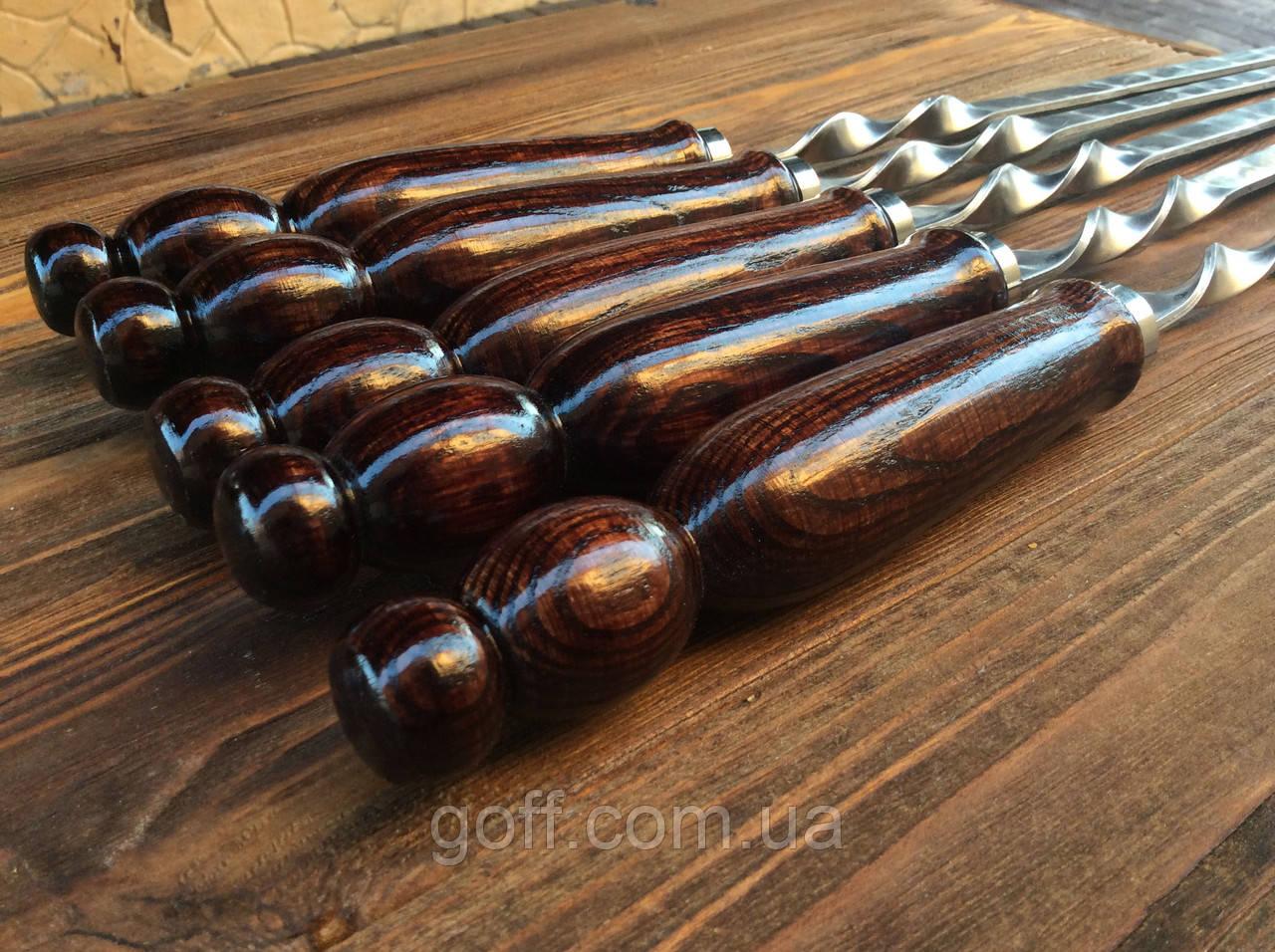 Шампура с деревянной ручкой 70 см (3мм, 15мм)