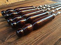 Шампура с деревянной ручкой 70 см (3мм, 15мм), фото 1