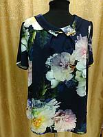 Женская летняя блузка с воротничком