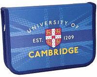 Пенал с одним отворотом 1 Вересня Cambridge blue 531379
