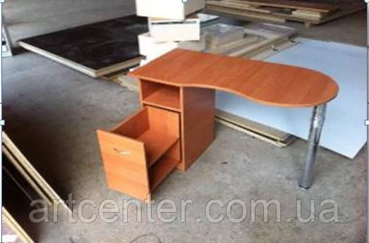 """Маникюрный стол с ящиком """"карго"""" и складной столешницей"""