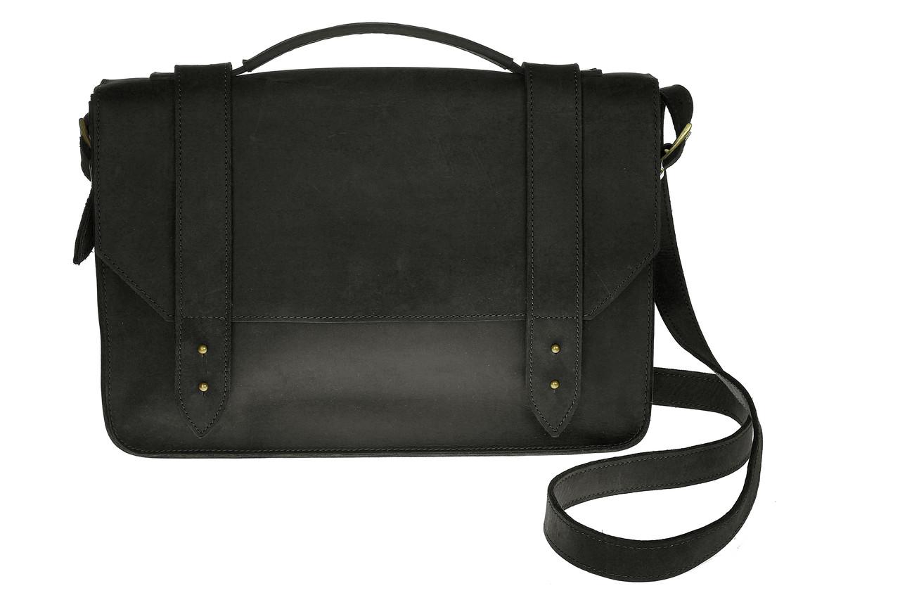Портфель, черный, 28х36 см.