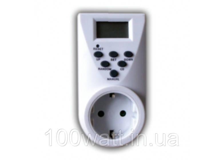 Розетка-таймер недельная с электронным управлением 3680w 16A ST428