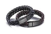 Старинный кожаный браслет