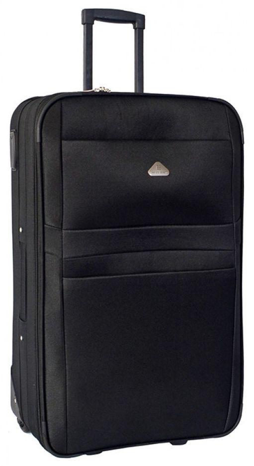 Средний практичный 2-колесный чемодан из полиэстера 64 л. ENRICO BENETTI 16102-001-70 черный