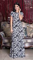 Очень красивое летнее шифоное платье в пол