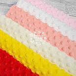 Набор отрезов плюша минки: светло-розовый, белый, чайная роза, слоновая кость, желтый, красный (18*30), фото 4