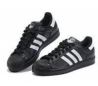 Кроссовки Adidas SuperStar Core Black Черные женские реплика 76ead49b6852c
