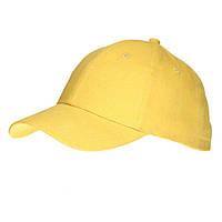 Кепки 'Лайт' (Sun Line) с нанесением логотипа, с металлической пряжкой, 6 цветов, Белая, 69010406 желтый
