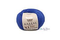 Турецкая пряжа Gazzal Baby Cotton XL ультрамарин №3421