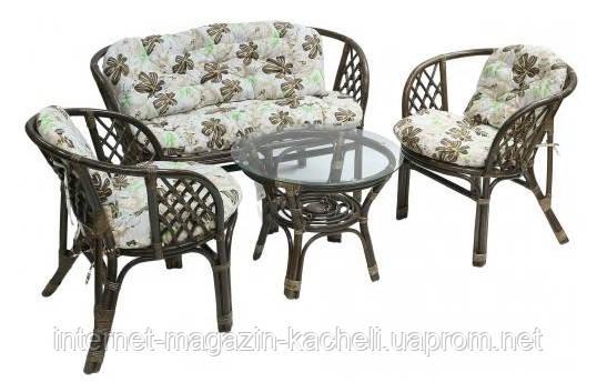 Комплект мебели из ротанга с подушками