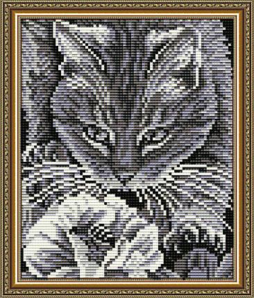 """Набор в алмазной технике """"Кот и пчела"""", фото 2"""