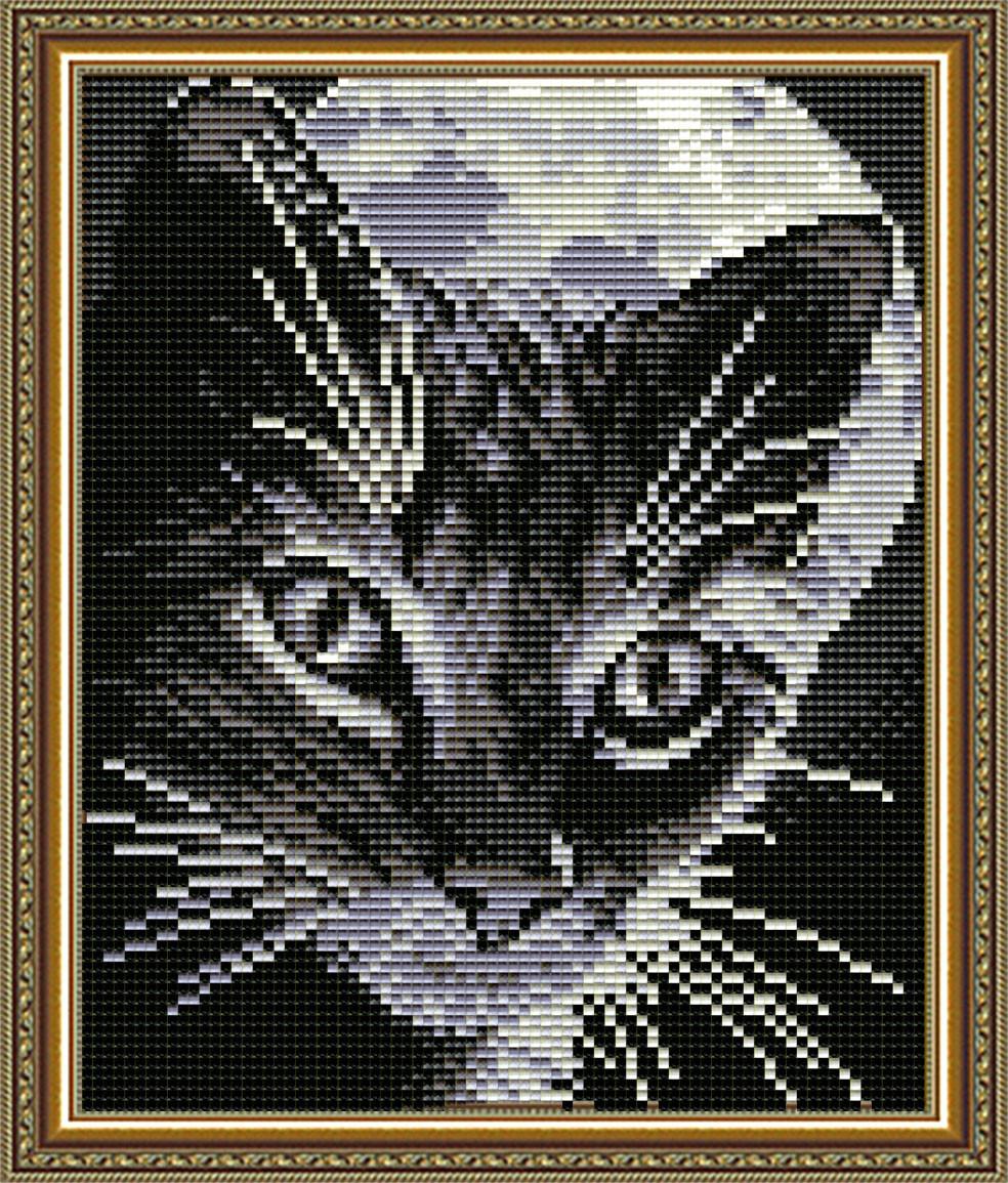 """Набор в алмазной технике """"Кот под луной"""""""