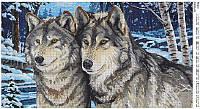 """Схема для полной зашивки бисером """"Волки"""" 53"""