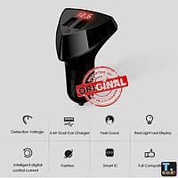 Автомобильное зарядное устройство Remax Aliens RCC-208 2*USB LCD Black