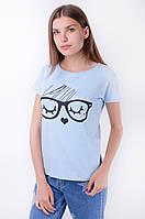 Женская футболка с принтом очки