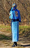 Платье джинсовое с вышивкой
