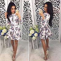 Женский модный костюм с цветочным принтом  (2 цвета), фото 1