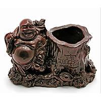 Хотей подставка для ручек каменная крошка коричневый 13х7,5х8,5 см