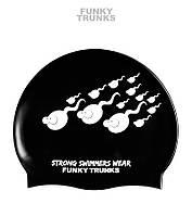 СКИДКА! Силиконовая шапочка для плавания Funky Trunks Strong Swimmers